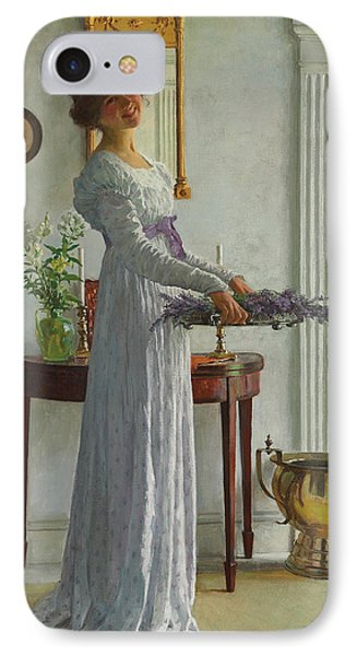 Fresh Lavender IPhone Case by William Henry Margetson