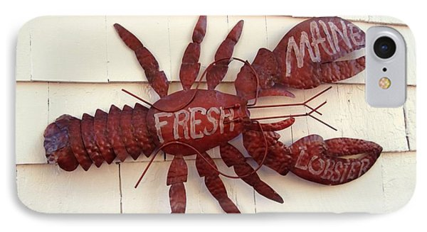Fresh Maine Lobster Sign Boothbay Harbor Maine IPhone Case by Patricia E Sundik