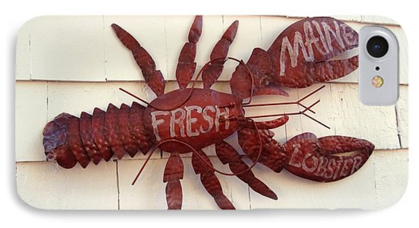 Fresh Maine Lobster Sign Boothbay Harbor Maine IPhone Case