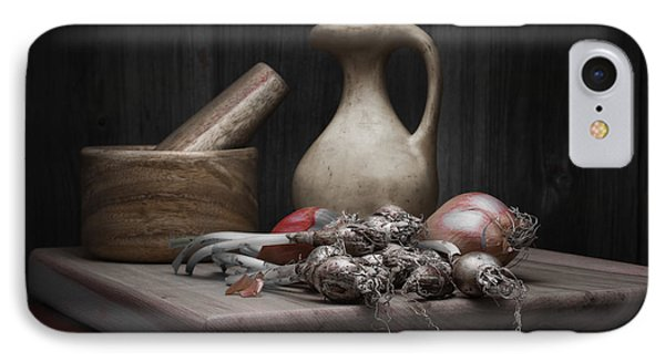 Fresh Onions With Pitcher IPhone Case by Tom Mc Nemar