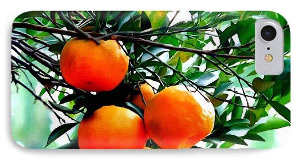 Fresh Orange On Plant Phone Case by Lanjee Chee