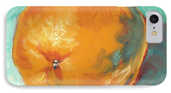 IPhone Case featuring the painting Fresh Orange by Pam Talley