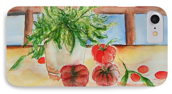Fresh Picked Tomatoes And Basil Phone Case by Elaine Duras