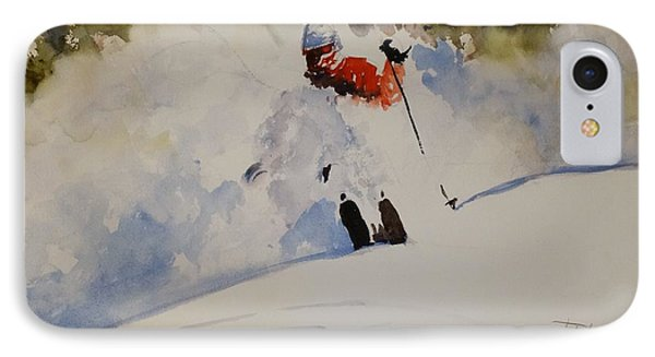 IPhone Case featuring the painting Fresh Powder by Sandra Strohschein