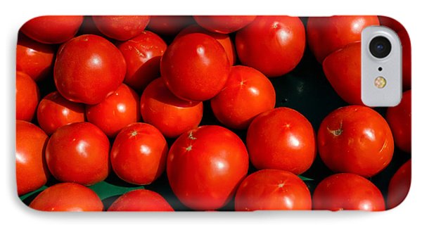 Fresh Ripe Red Tomatoes Phone Case by Edward Fielding
