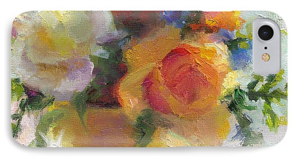 Fresh - Roses In Teacup Phone Case by Talya Johnson