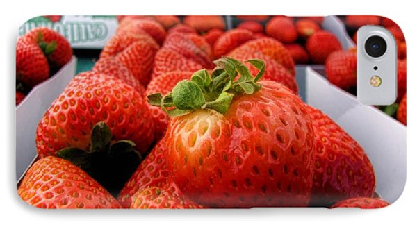 Fresh Strawberries Phone Case by Peggy Hughes