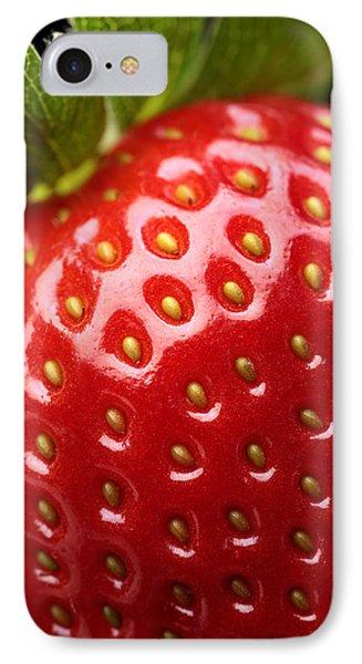 Fresh Strawberry Close-up Phone Case by Johan Swanepoel