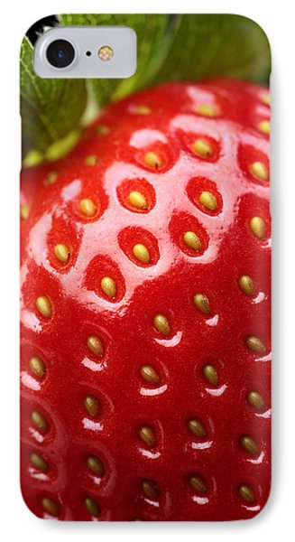 Fresh Strawberry Close-up IPhone Case by Johan Swanepoel