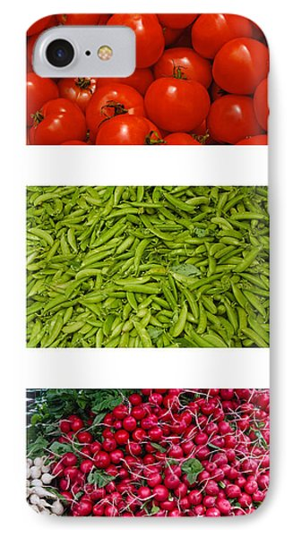 Fresh Vegetable Triptych Phone Case by Thomas Marchessault