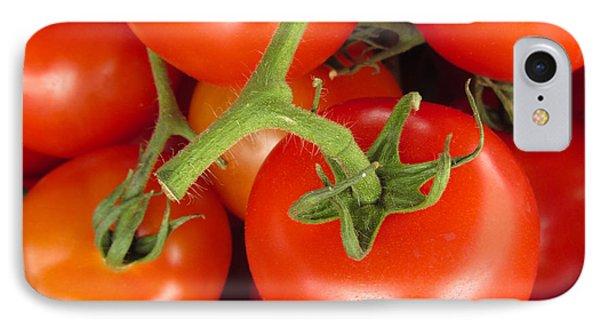 Fresh Whole Tomatos On Vine IPhone Case by David Millenheft
