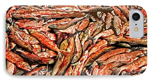 Freshly Catched Salmons At The Nenana River - Ak Phone Case by Juergen Weiss