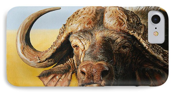 African Buffalo Phone Case by Mario Pichler