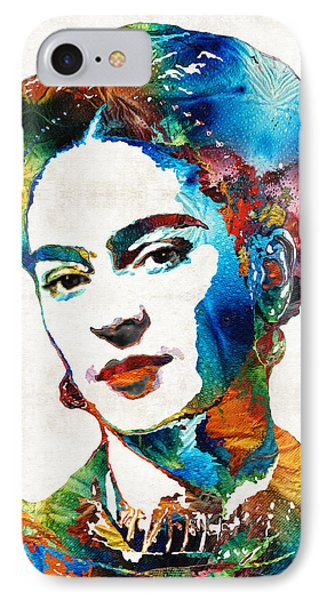 Frida Kahlo Art - Viva La Frida - By Sharon Cummings IPhone Case by Sharon Cummings