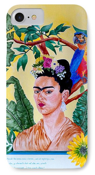 Frida Kahlo IPhone Case by Thomas Gronowski