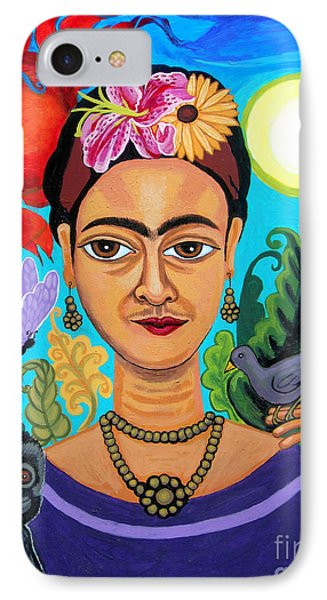 Frida Kahlo With Monkey And Bird IPhone Case
