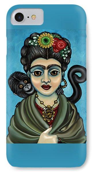 Frida's Monkey Phone Case by Victoria De Almeida