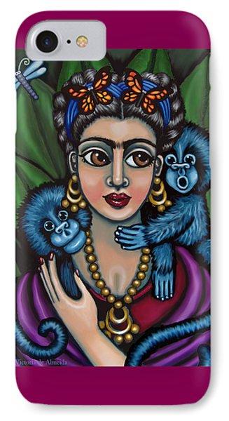 Frida's Monkeys IPhone Case by Victoria De Almeida