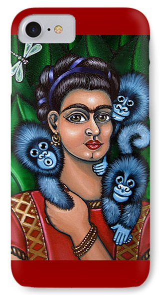 Fridas Triplets IPhone Case by Victoria De Almeida