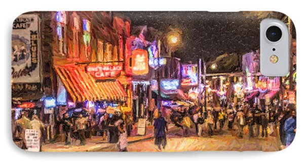 Friday Night On Beale IPhone Case by Liz Leyden