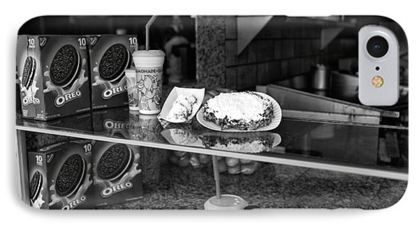 Fried Dough At Seaside Heights Mono IPhone Case by John Rizzuto
