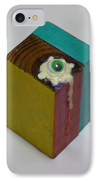 IPhone Case featuring the sculpture Fried Eye Ball by Douglas Fromm