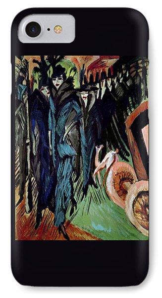 Friedrichstrasse IPhone Case by Ernst Ludwig Kirchner