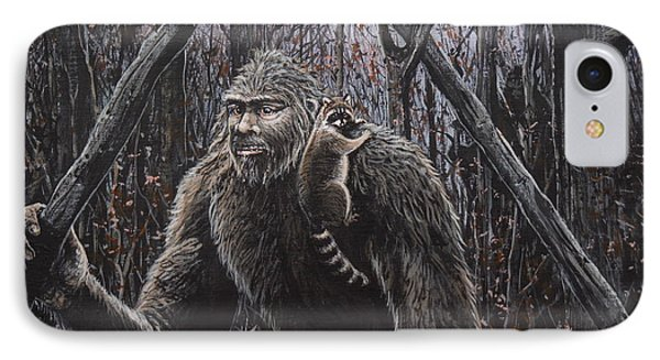 Friend Raccoon IPhone Case by Michael Wawrzyniec