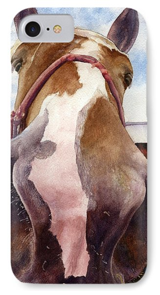 IPhone Case featuring the painting Friendly Horse by Anne Gifford