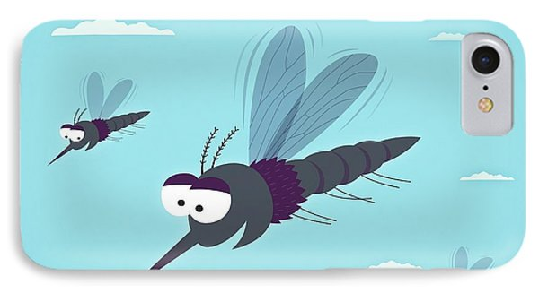 Friendly Mosquitos IPhone Case by Mark Airs