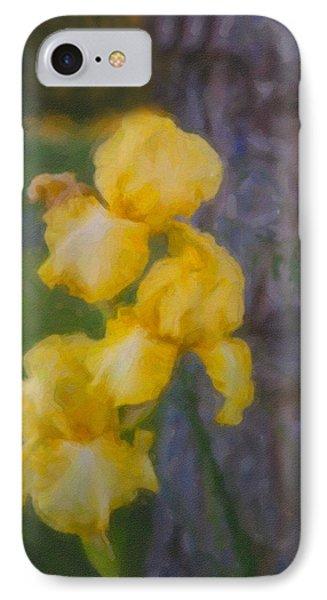 Friendly Yellow Irises Phone Case by Omaste Witkowski