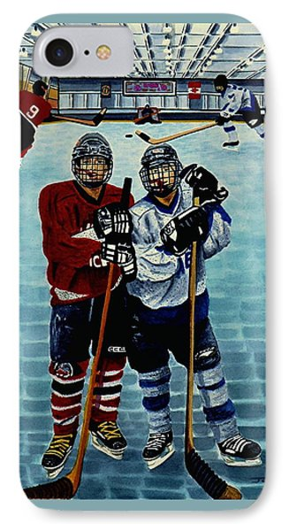 Friends And Foes IPhone Case by Joy Bradley