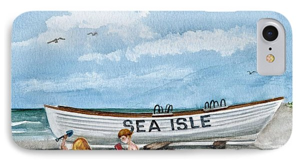 Friends By The Sea  IPhone Case by Nancy Patterson
