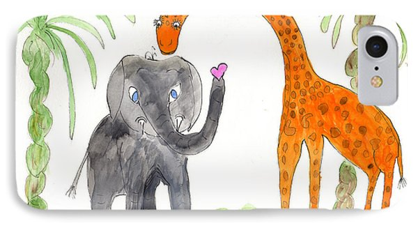 Friends - Elephoot And Elliot IPhone Case by Helen Holden-Gladsky
