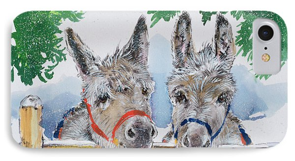 Friends In The Field IPhone Case by Diane Matthes
