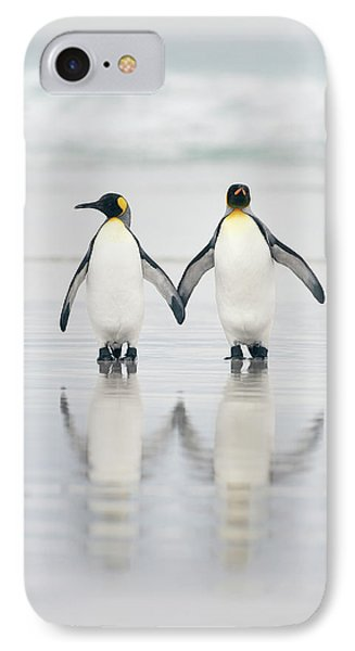 Penguin iPhone 7 Case - Friends by Joan Gil Raga