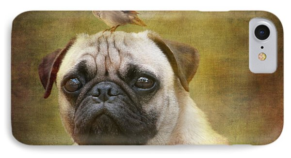 Friends Like Pug And Bird Phone Case by Barbara Orenya