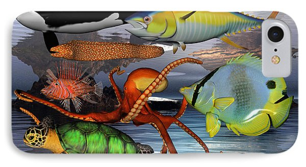 Friends Of The Sea Phone Case by Betsy Knapp