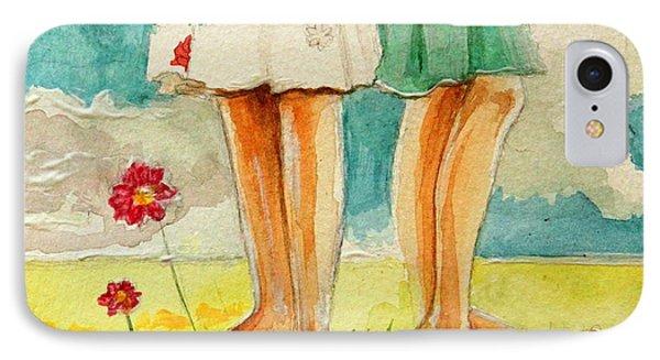 Garden iPhone 7 Case - Friendship by Elizabeth Robinette Tyndall