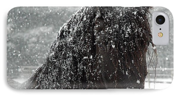 Friesian Snow Phone Case by Fran J Scott