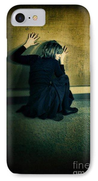 Frightened Woman Phone Case by Jill Battaglia
