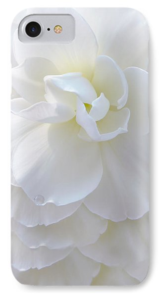 Frilly Ivory Begonia Flower Phone Case by Jennie Marie Schell