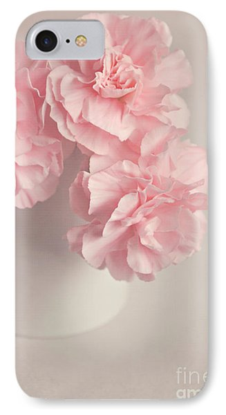 Frilly Pink Carnations Phone Case by Lyn Randle