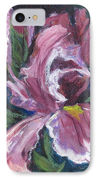 Frilly Pink Flower Of Iris Ilk IPhone Case by Betty Pieper