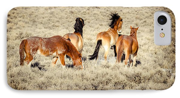 Frisky Mustangs IPhone Case