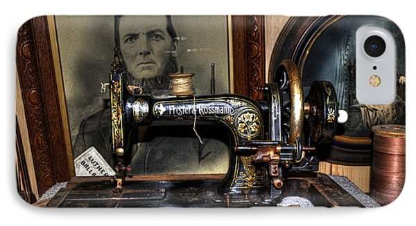 Frister And Rossmann - Old Sewing Machine Phone Case by Kaye Menner