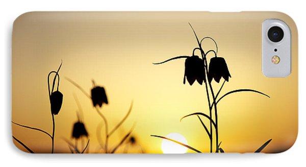 Fritillary Flower Sunset IPhone Case