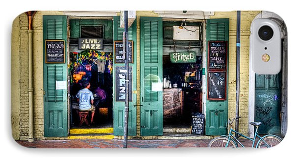 IPhone Case featuring the photograph Fritzels Bar On Bourbon Street by Ray Devlin