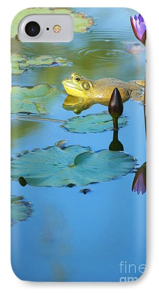 IPhone Case featuring the photograph Frog And Lily by Ellen Cotton