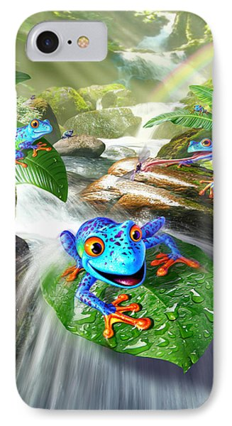 Frog Capades IPhone Case by Jerry LoFaro